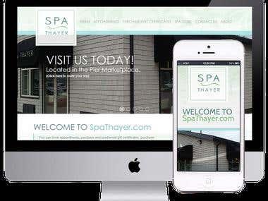 SpaThayer Responsive WebSite Design