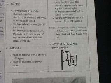 HOW TO PREPARE FOR EXAMINATIONS,ABORTION,SAYING THANKS