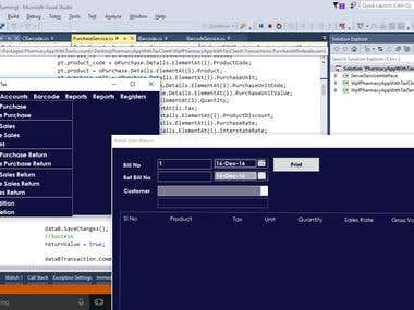 Client Server Inventory and Accounting Application in C#.net