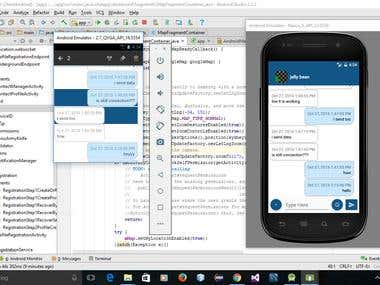 Server based Chat application in java for Android