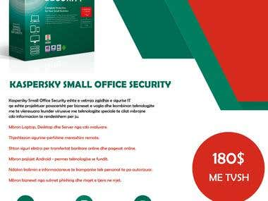 Kaspersky Small Office Security Template Design