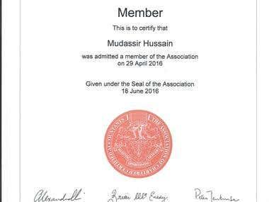 ACCA Membership Certificate