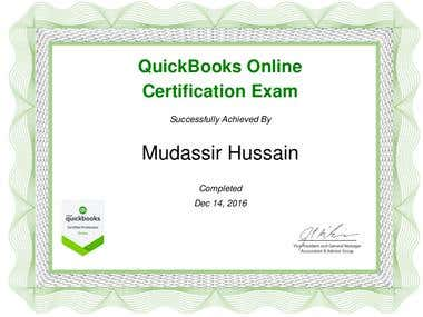 QuickBooks Certified Pro Adviser