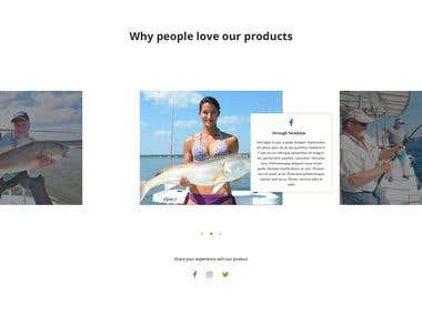 Fishing Rod Single product e-commerse website landing page