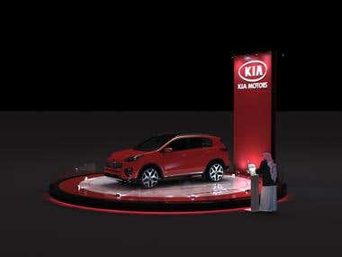 Kia Car Platform Exhibition design