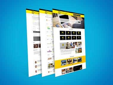 Yellow Pages Website Mokeup