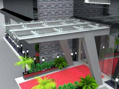 Building entrance 3D design