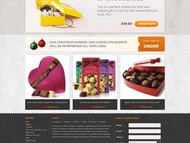 website design for Chocolate