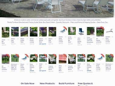Furniture Ecommerce Website -- www.aluminumpoolfurniture.com