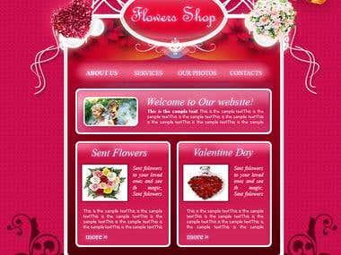 Flowers Shop Flash Template