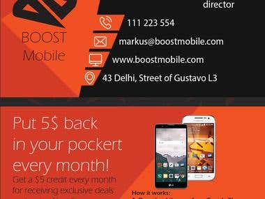 Boost Mobile - Business Card