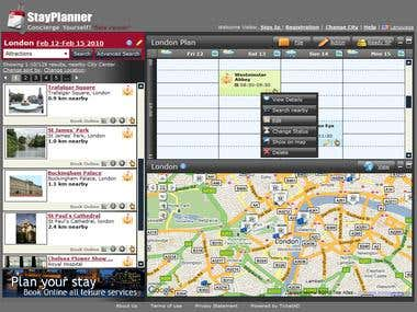 StayPlanner travel system - ASP.NET C# SQL Server MVC WCF