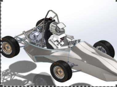 Formula car design using solid works (weld-element)