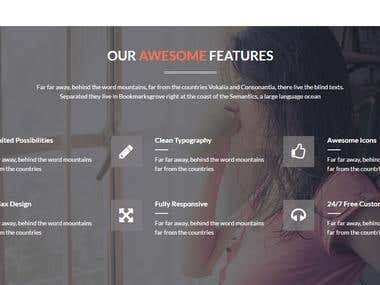 Web & Mobile Design html5, css3, bootstrap, jquery