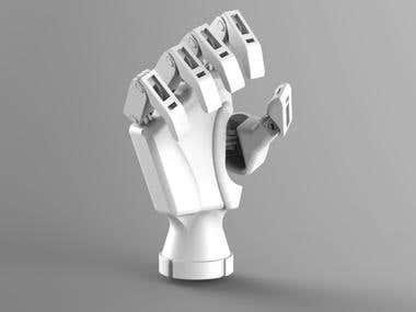 Multi grasp prosthetic hand.