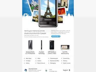 Samsung - Newsletter Design
