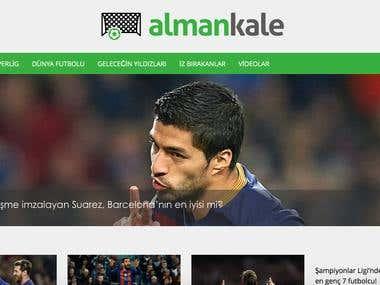 www.almankale.com Redesign / Wordpress Modification