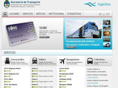 Governamental site for Transportation