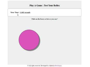 Javascript game | Reaction tester | Simple yet fun