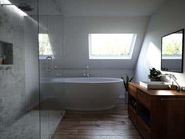 Bathroom photo realistic