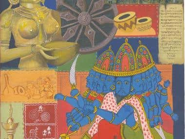 Hand illustrations - Indian designs
