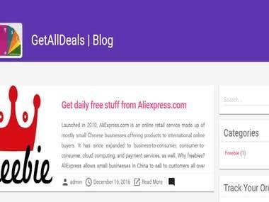 GetAllDeals Blog : Wordpress