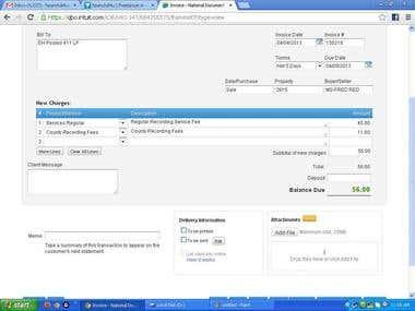 Quickbooks Invoicing