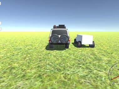 Moving Car with Animation of break,tyre movement in Unity 3D
