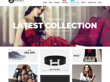 PSD to HTML Shopping website