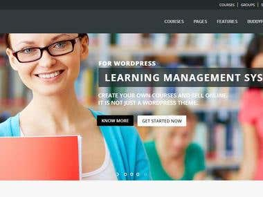 Online Course (LMS) Website