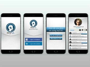 mobile app layout design