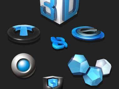 3D Logo's Designs