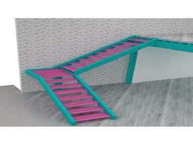 DESIGN METALLIC STAIRCASE