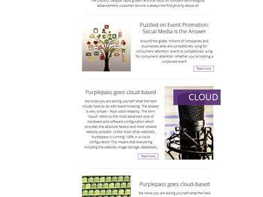 Responsive Html newsletter and design
