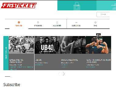 Html5 website to buy Tickets for Events