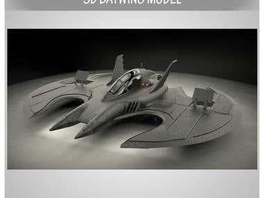 3d batwing model