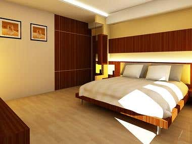 Bed room 3D design