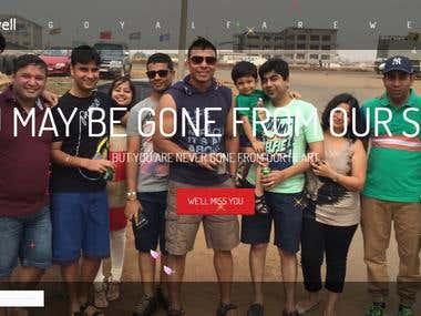 Farewell Website