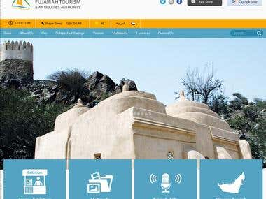 Website design and development for Fujairah Tourism