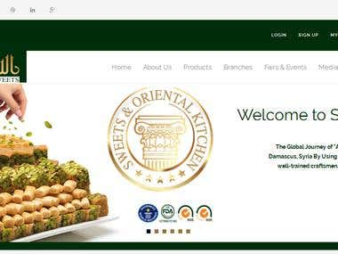 Website design and development for AL-Sultan Sweets