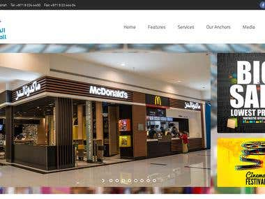 Website design and development for fujairah mall