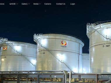 Website design and development for fujairah oil terminal