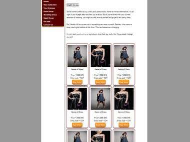 Website sample snopshot