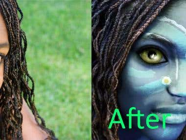 Image Manipulation - Recreation of Avatar Effect