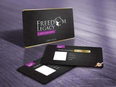 Club Card Designed For Freedom Legacy