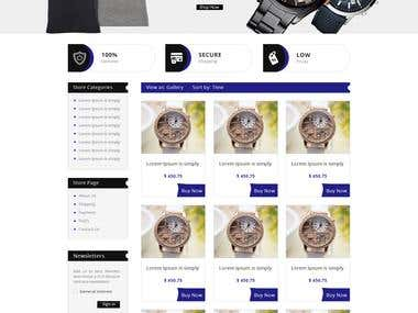eBay Store design for Fashion Wear UK