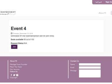 Events Listing Website