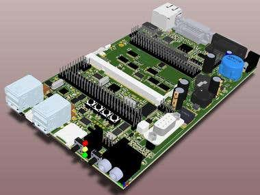 Computer board design for machine
