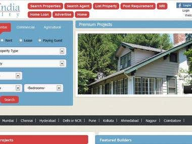 A featured Real Estate website