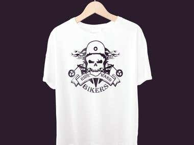 Bikers logo and t-shirt design